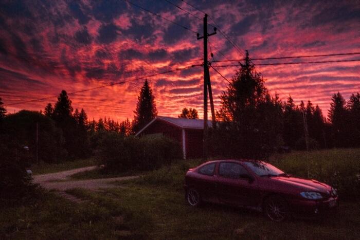 Auringonlasku valokuvaaja Jyväskylä